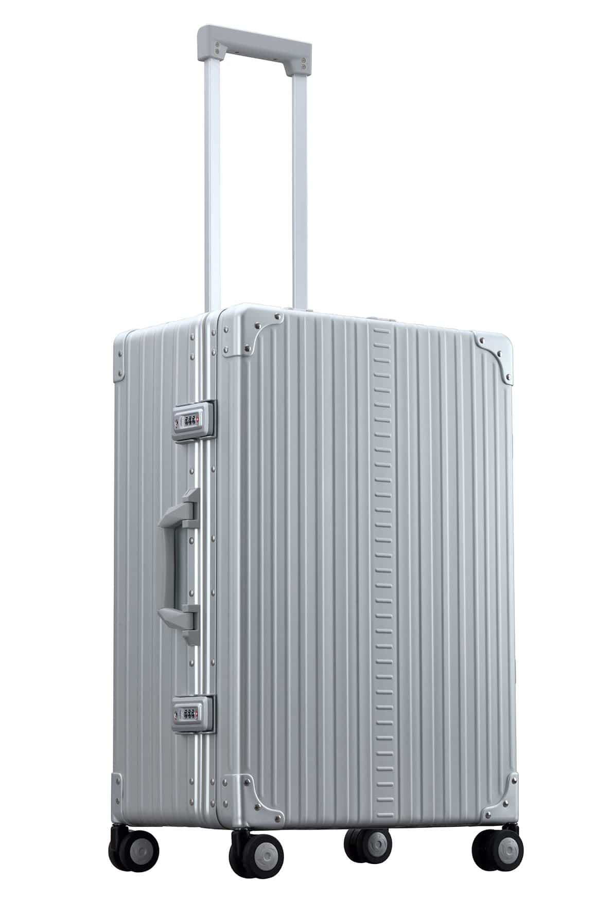 26 inch Aluminum suitcase with garment bag trunk style