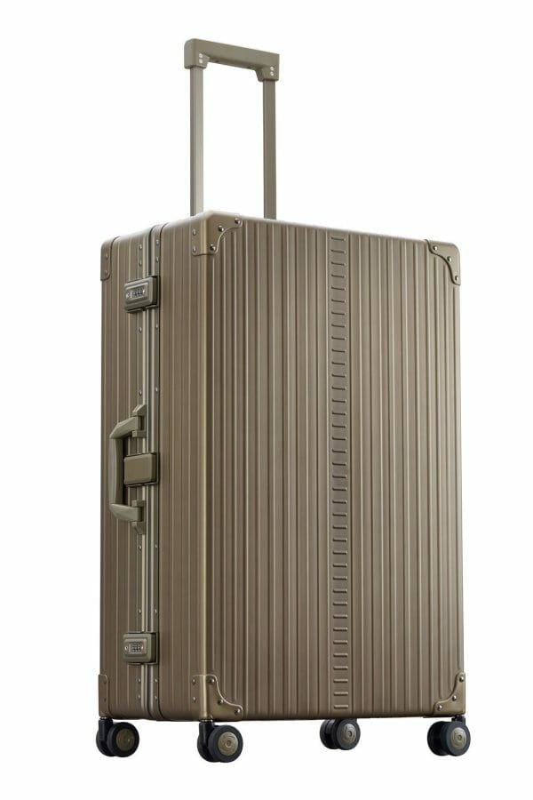30 inch aluminum suitcase with spinner wheels