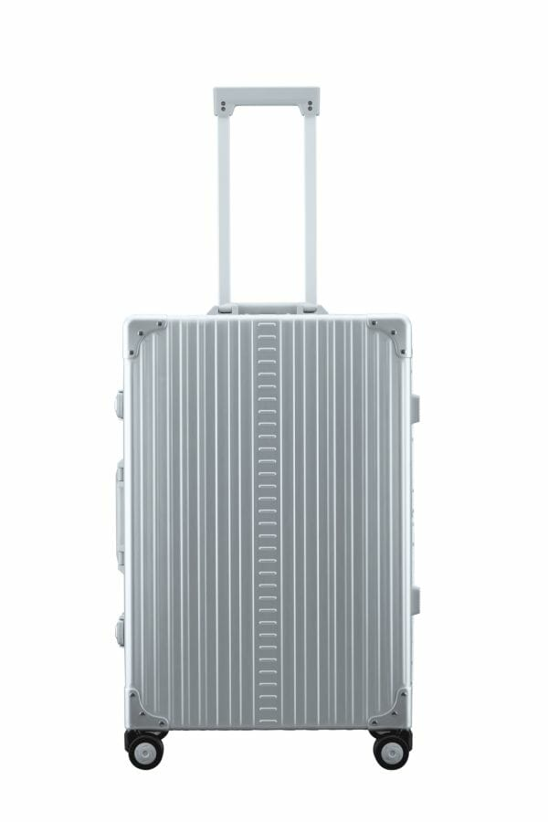 aluminum checked luggage in 26 inches