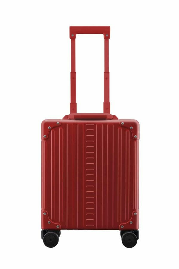 Red aluminum under seat carry on