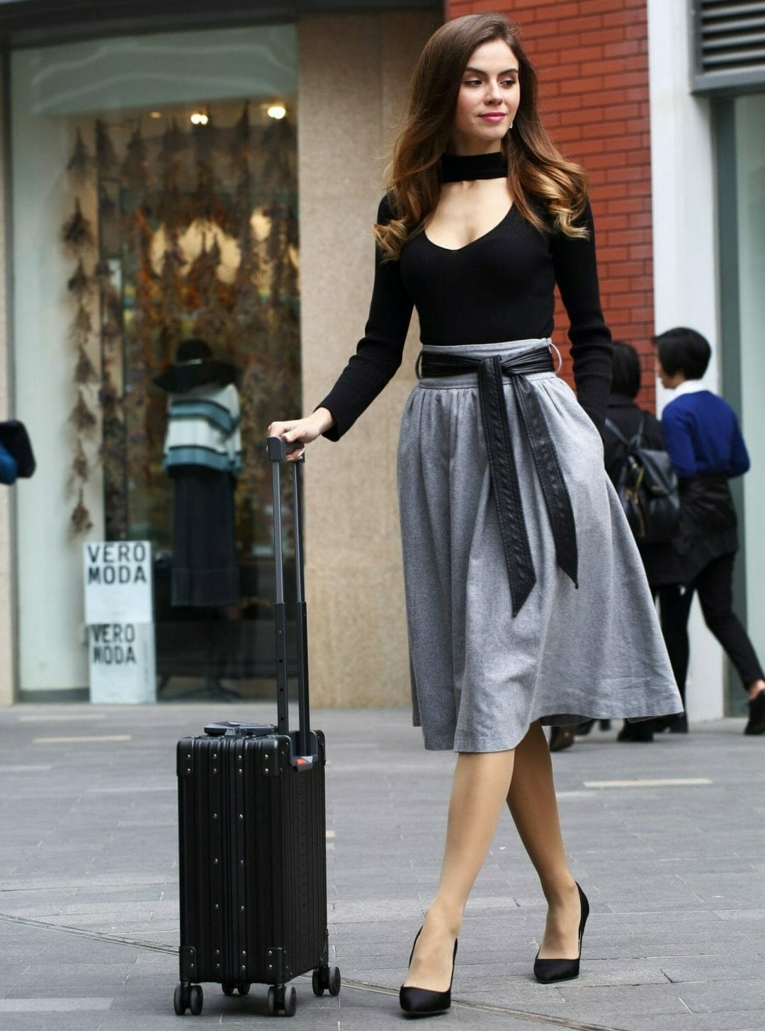 Wheeled business case that works as a carry on Rolling laptop case