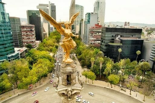 Angel of Independence in mexico city