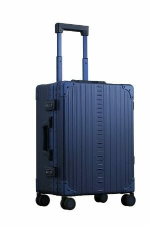 2128-blue-luggage-in-21-inches-front-and-side-view