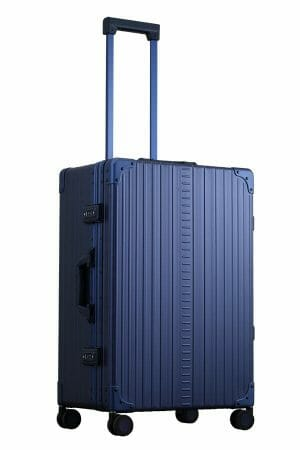 Blue-26-inch-luggage-hardside-with-garment-bag-inside-with-sippner-wheels-and-trunk-styled